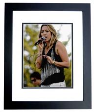 Colbie Caillat Signed - Autographed Pop Singer Concert 8x10 Photo BLACK CUSTOM FRAME