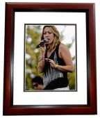 Colbie Caillat Signed - Autographed Pop Singer Concert 8x10 inch Photo MAHOGANY CUSTOM FRAME - Guaranteed to pass PSA or JSA