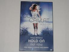 Colbie Caillat Signed Framed 11x17 Hold On Poster New Single Very Rare