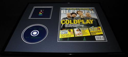 Coldplay 16x20 Framed 2005 Blender Magazine & X&Y CD Display