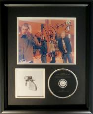 Coldplay (4) Signed Framed Autographed 8x10 Photo w/ CD Chris Martin + 3 PSA/DNA