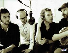 Coldplay Autographed Signed 11x14 Photo Certified Authentic PSA/DNA LOA