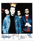 Coldplay band signed autographed 8x10 photo! Chris Martin! RARE! Beckett BAS LOA