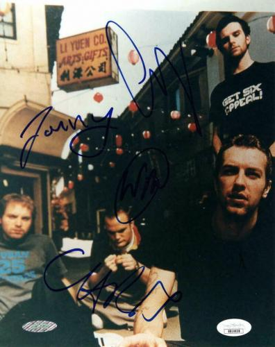 Coldplay Full Band (x4) Signed Autograph 8x10 Photo -vintage Chris Martin +3 Jsa
