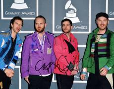 Coldplay Group Signed - Autographed by Chris Martin, Will Champion, and Jonny Buckland 11x14 Photo at the Grammy Awards