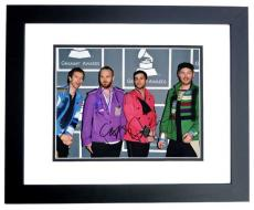 Coldplay Group Signed - Autographed by Chris Martin, Will Champion, and Jonny Buckland 11x14 Photo  at the Grammy Awards - BLACK CUSTOM FRAME