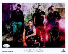COLDPLAY HAND SIGNED 8x10 COLOR GROUP PHOTO       CHRIS MARTIN      RARE     JSA