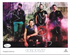 COLDPLAY HAND SIGNED 8x10 COLOR GROUP PHOTO     CHRIS MARTIN    VERY RARE    JSA