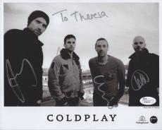 COLDPLAY HAND SIGNED 8x10 PHOTO+COA        SIGNED BY WHOLE BAND       RARE