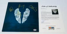 Coldplay X4 Chris Martin Guy Jonny & Will Signed Ghost Stories Record Psa Loa