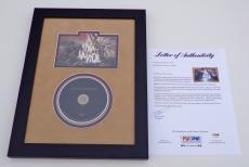 Coldplay X4 Chris Martin Guy Jonny Will Signed Viva La Vida Photo Cd Framed Psa