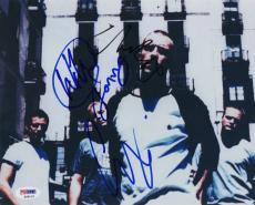 COLDPLAY X4 CHRIS MARTIN JONNY BUCKLAND GUY & WILL SIGNED 8x10 PHOTO PSA COA