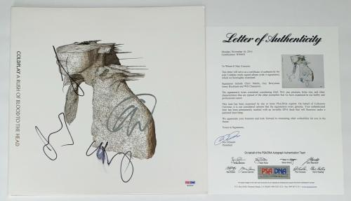 Coldplay X4 Chris Martin Jonny Guy & Will Signed A Rush Of Blood To The Head Psa