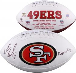 Colin Kaepernick Autographed White Panel Football with Kaepernicking Inscription