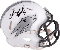Colin Kaepernick Nevada Wolfpack Autographed White Mini Helmet