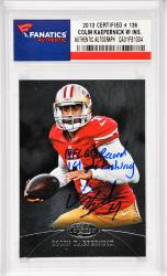 Colin Kaepernick San Francisco 49ers Autographed 2013 Certified #136 Card with NFL QB Record 181 YDS. Rushing Inscription