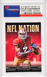 Colin Kaepernick San Francisco 49ers Autographed 2013 Rookies & Stars NFL Nation #24 Card