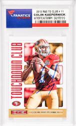 Colin Kaepernick San Francisco 49ers Autographed 2013 Rookies & Stars TD Club #11 Card