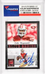 Colin Kaepernick San Francisco 49ers Autographed 2014 Elite Series #27 Card