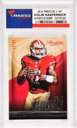 Colin Kaepernick San Francisco 49ers Autographed 2014 Prestige #187 Card