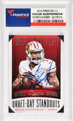 Colin Kaepernick San Francisco 49ers Autographed 2014 Prestige Draft Day Standouts #2 Card