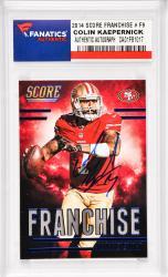 Colin Kaepernick San Francisco 49ers Autographed 2014 Score Franchise #F9 Card