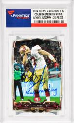 Colin Kaepernick San Francisco 49ers Autographed 2014 Topps Variation #17 Card with Kaepernicking Inscription
