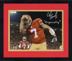 "Colin Kaepernick San Francisco 49ers Autographed 8x10 Photograph with ""Kaepernicking"" Inscription - Mounted Memories"