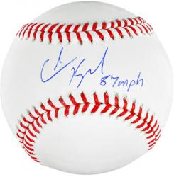 Colin Kaepernick San Francisco 49ers Autographed Baseball with 87 MPH 6/21/13 Inscription - Mounted Memories