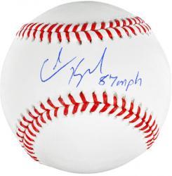 Colin Kaepernick San Francisco 49ers Autographed Baseball with 87 MPH 6/21/13 Inscription