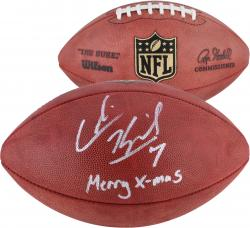 Colin Kaepernick San Francisco 49ers Autographed Duke Football with Merry X-Mas Inscription
