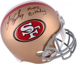 Colin Kaepernick San Francisco 49ers Autographed Full Size Replica Helmet with Happy Birthday Inscription