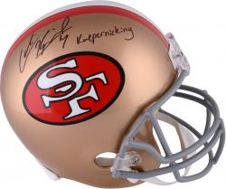 Colin Kaepernick San Francisco 49ers Autographed Full Size Replica Helmet with Kaepernicking Inscription