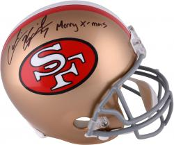 Colin Kaepernick San Francisco 49ers Autographed Full Size Replica Helmet with Merry X-Mas Inscription