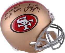 Colin Kaepernick San Francisco 49ers Autographed Full Size Replica Helmet with NFL QB Record 181 Yds Rushing Inscription