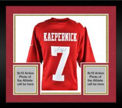 Colin Kaepernick San Francisco 49ers Autographed Nike Red Limited Jersey - Mounted Memories