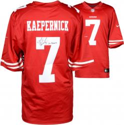 Colin Kaepernick San Francisco 49ers Autographed Red Nike Jersey with Go Niners Inscription
