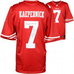 Colin Kaepernick San Francisco 49ers Autographed Red Nike Jersey with Kaepernicking Inscription