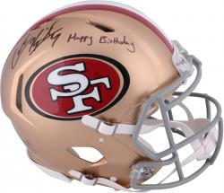 Colin Kaepernick San Francisco 49ers Autographed Riddell Revolution Speed Pro-Line Helmet with Happy Birthday Inscription