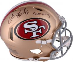 Colin Kaepernick San Francisco 49ers Autographed Riddell Revolution Speed Pro-Line Helmet with Kaepernicking Inscription