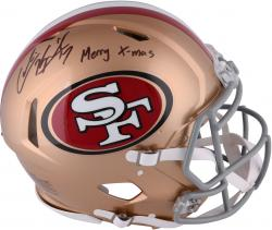 Colin Kaepernick San Francisco 49ers Autographed Riddell Revolution Speed Pro-Line Helmet with Merry X-Mas Inscription