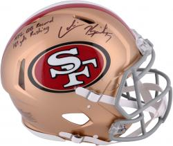 Colin Kaepernick San Francisco 49ers Autographed Riddell Revolution Speed Pro-Line Helmet with NFL QB Record 181 Yds Inscription