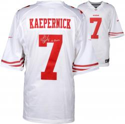 Colin Kaepernick San Francisco 49ers Autographed White Nike Jersey with Go Niners Inscription