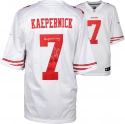 Colin Kaepernick San Francisco 49ers Autographed White Nike Jersey with Kaepernicking Inscription