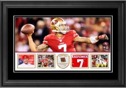 "Colin Kaepernick San Francisco 49ers Framed 10"" x 18""  Panoramic with Piece of Game-Used Football - Limited Edition of 250"
