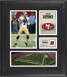 Colin Kaepernick San Francisco 49ers Framed 15'' x 17'' Collage with Game-Used Football - Mounted Memories