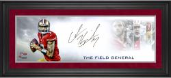 Colin Kaepernick San Francisco 49ers Framed Autographed 10'' x 30'' Field General Rollout Photograph
