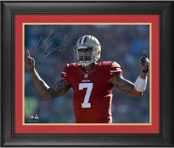"Colin Kaepernick San Francisco 49ers Framed Autographed 16"" x 20"" Fingers Photograph"