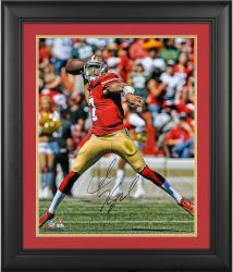 Colin Kaepernick San Francisco 49ers Framed Autographed 16'' x 20'' Passing Photograph
