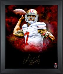 Colin Kaepernick San Francisco 49ers Framed Autographed 20'' x 24'' In Focus Throwing Photograph